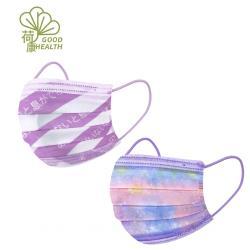 【荷康】醫用醫療口罩 雙鋼印 台灣製造_夢幻星星+沒有你我無法呼吸(各15入/盒)