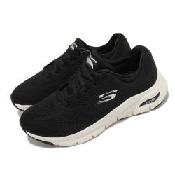 Skechers慢跑鞋ArchFit-BigAppeal女鞋寬楦專利鞋墊郊遊健走回彈避震黑白149057WBKW