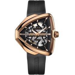 Hamilton Ventura 貓王80週年鏤空機械錶(H24525331)玫瑰金色