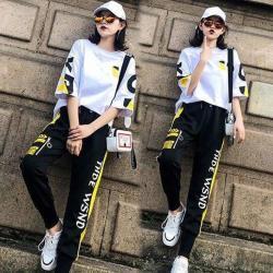 【韓國K.W.】(預購) 韓國設計耀眼套裝褲