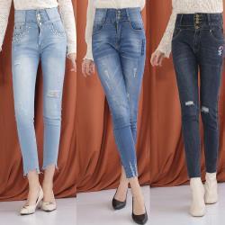 【A1 Darin】(三件組)日本薄型肌涼丹寧棉彈性牛仔褲(送洗衣精補充包300g)