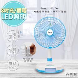 【勳風】充插二用8吋DC扇電風扇循環立扇(BHF-T00789)安靜/夠強