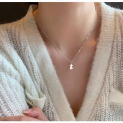 925純銀小熊女項鍊