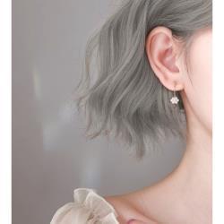 925純銀小白珠耳環