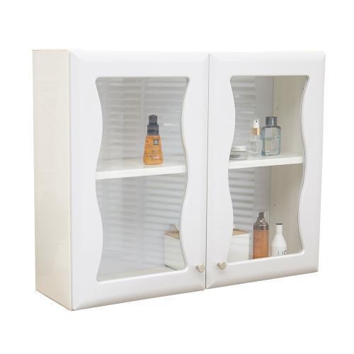 海灣雙門防水塑鋼浴櫃 置物櫃 1入