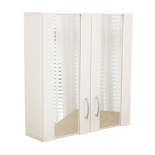 雙鏡面雙門防水塑鋼浴櫃 置物櫃 1入