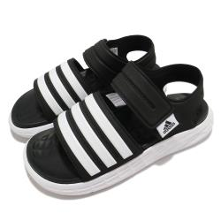 adidas 涼鞋 Duramo SL Sandal 男女鞋 愛迪達 夏日 輕便 情侶穿搭 套腳 黑 白 FY8134 [ACS 跨運動]