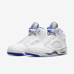 Nike 籃球鞋 Air Jordan 5 Retro 男鞋 經典款 喬丹五代 復刻 皮革 穿搭 白 藍 DD0587140 [ACS 跨運動]