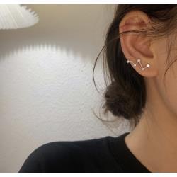925銀閃鑽星星幾何耳環