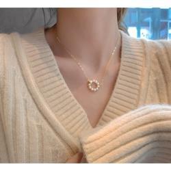 925純銀珍珠圓環項鍊