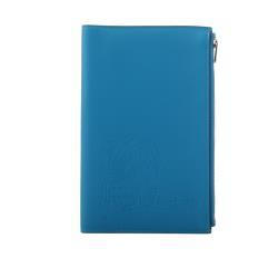 HERMES 牛頭人身圖案拉鏈多功能護照夾(藍色)
