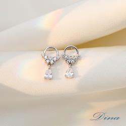 【DINA 蒂娜珠寶】凝視星空 CZ鑽925純銀耳環(JM3643)