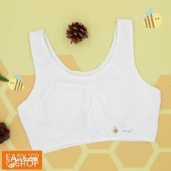 【EASY SHOP】easy body-Honeybee無鋼圈美國棉少女短背心-濃濃牛奶白