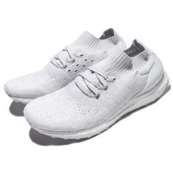 adidas 慢跑鞋 UltraBOOST Uncaged 男鞋 慢跑鞋 襪套 避震 透氣 編織  白 灰 BY2549 [ACS 跨運動]