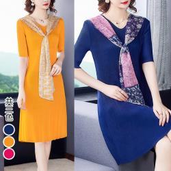 【KEITH-WILL】(預購)狂賣韓版風格壓褶素色洋裝