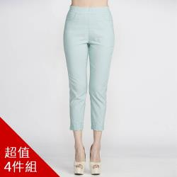 蘭陵精繡彈力舒滑修飾褲組