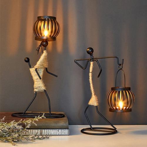 北歐時光民族風傳統人像手工綁繩造型燭台 (3款任選)