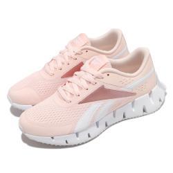Reebok 慢跑鞋 Zig Dynamica 2 運動 女鞋 輕量 透氣 舒適 避震 路跑 健身 粉 白 FY9948 [ACS 跨運動]