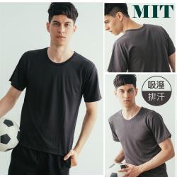 QIDINA 台灣品牌 吸濕排汗圓領短袖舒適上衣