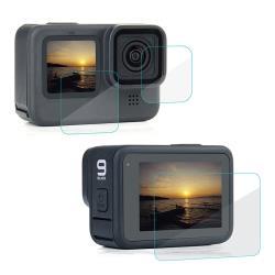 【SHOWHAN】For GoPro HERO9 Black 9H鋼化玻璃保護貼(主螢幕+小螢幕+鏡頭)