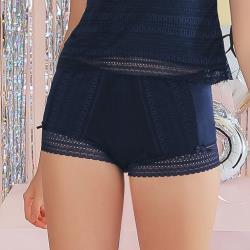 【EASY SHOP】夜幕派對 中腰平口安全褲(沉穩藍)