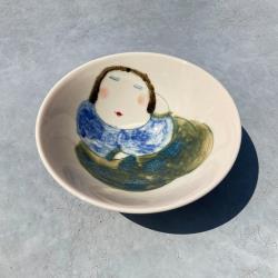 吳仲宗 胖太太系列 - 日本碗 - 藍悠悠