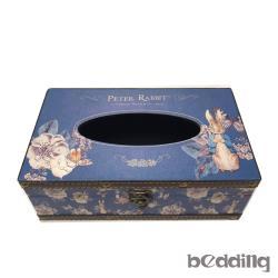 比得兔 Peter Rabbit 彼得兔 復古面紙盒-山茶花藍