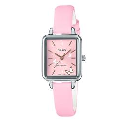 【CASIO 卡西歐】甜美可愛指針女錶 皮質錶帶 礦物玻璃 生活防水 (LTP-E147L-4A)