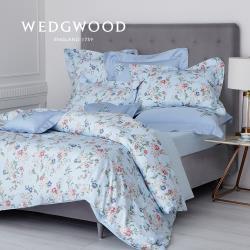 【WEDGWOOD】100%天絲印花 床包兩用被套組(蘋果花園)-加大