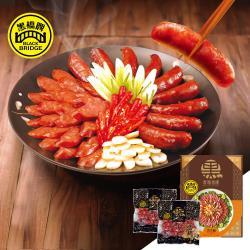 【黑橋牌】二斤黑豬肉香腸禮盒-原味+原味 (真空包裝)(冷藏)