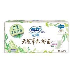 蘇菲極淨肌天然草本抑菌超薄潔翼夜用29cm(15片x24包) /箱