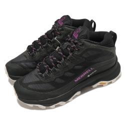 Merrell 戶外鞋 Moab Speed Mid GTX 女鞋 登山 越野 耐磨 黃金大底 防水 中筒 黑 白 ML135414