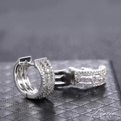 【DINA 蒂娜珠寶】三世情 CZ鑽造型耳環(HT7562)