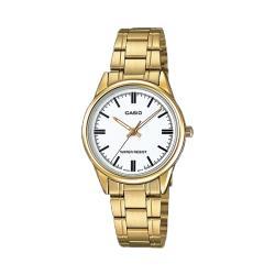 【CASIO 卡西歐】送禮首選-簡約氣質女錶 不鏽鋼錶帶(LTP-V005G-7A)