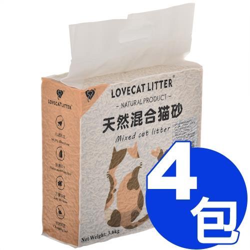LOVECAT-天然混合貓砂(豆腐礦砂)3.6kg
