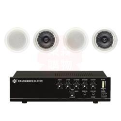 商業空間 SHOW SA-880M 擴大機+AV MUSICAL HSR-108-6T 崁入式喇叭X4支