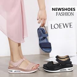 【WS】現+預 輕奢水鑽大碼氣墊涼拖鞋(涼拖鞋/休閒鞋)