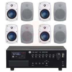 商業空間 SHOW TPA-120R 擴大機+Poise H-4T 多用途喇叭(白) X8支