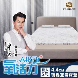 日本旭川-琉森零重力支撐舒眠水洗床墊-雙人(厚4.4cm)