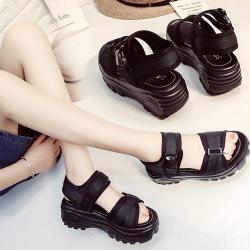 【WS】現+預 韓版厚底鬆糕運動休閒涼鞋(厚底鞋/休閒鞋)
