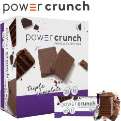 【美國 Power Crunch】Original 高蛋白能量棒 Triple Chocolate(三倍巧克力/12x40g/盒)