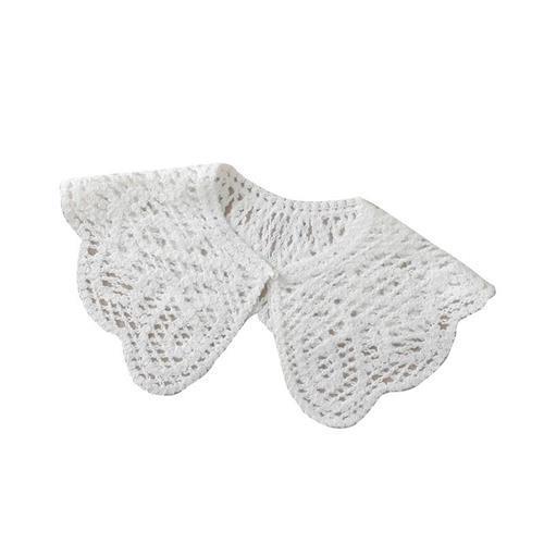 【米蘭精品】假領子襯衫領片-刺繡花邊針織披肩2款74ac35/