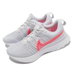 Nike 慢跑鞋 React Infinity Run 2 女鞋 輕量 透氣 舒適 避震 路跑 健身 灰 紅 CT2423004 [ACS 跨運動]
