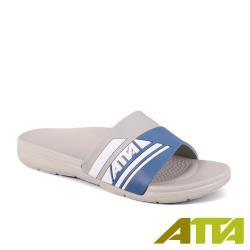 【ATTA】足壓分散★流線均壓室外拖鞋-藍灰