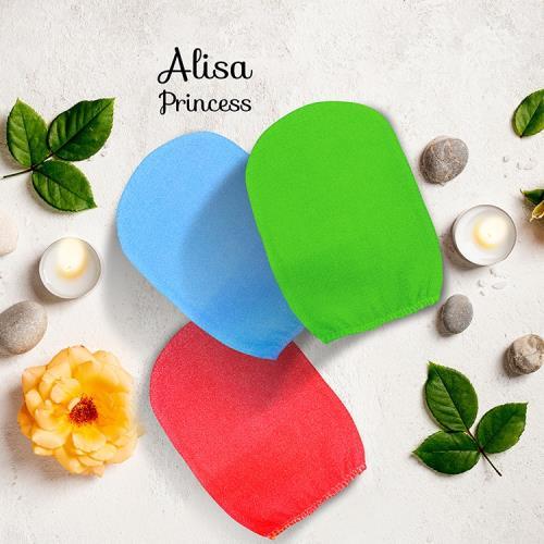 艾莉莎公主韓國去角質搓澡巾(顏色隨機出貨)2入