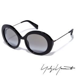 【Yohji Yamamoto 山本耀司】黑色狂潮●摩登圓形大框太陽眼鏡(灰色-YY5001-019)