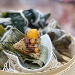 【熊好呷熟食】古早味紅藜蛋黃一口粽300克(6粒)