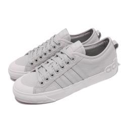 adidas 休閒鞋 Nizza 低筒 運動 男鞋 海外限定 愛迪達 簡約 舒適 穿搭 灰 白 EF5714 [ACS 跨運動]