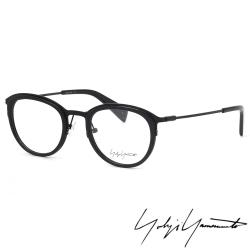 【Y-3山本耀司】Yohji Yamamoto時尚金屬復古圓框光學眼鏡(黑-YY1023-613)
