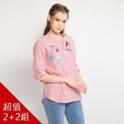QWI時裝週日本設計聯名手工精繡品牌襯衫